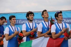 Il quattro senza agli Europei 2013