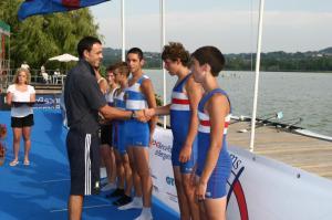 Non lo sapeva... ma P.P. Frattini, al Fdg 2009, stava premiando due futuri campioni mondiali Junior