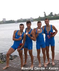 Il quattro senza medagliato a Kazan