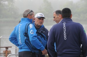 Il DT a colloquio con Barbo e Romagnoli durante le ultime selezioni