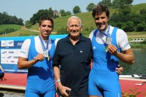 Marco Di Costanzo insieme a Matteo Castaldo ed al nonno Carlo