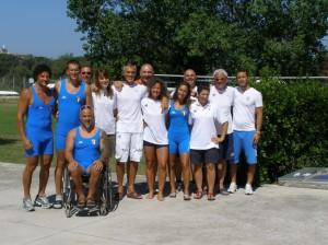 La squadra Para-Rowing dell'Italia