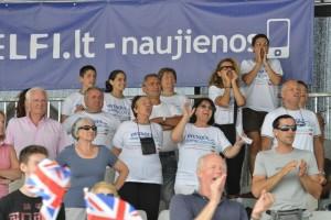 Pubblico azzurro a Trakai