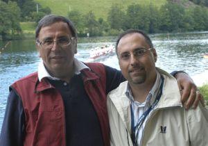 Riccardo Crivelli assieme al DT La Mura (Lucerna 2004)