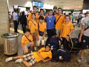 I giovani della Can. Menaggio accolgono Ruta e Molteni a Malpensa