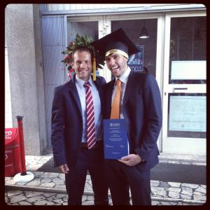 Il giorno della Laurea Specialistica con Davide Riccardi