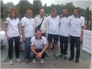 Da sinistra: Carola Maccà, Luca Frigo, il Meteopatologo, Stefano Bellio, Massimo Clagnaz, Eros Goretti e accosciato Marco Trevisan