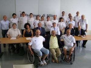 Giugno 2013. Squadra Para-Rowing presentata a Milano.