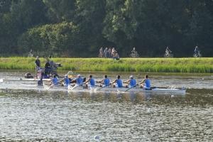 L'otto azzurro ad Amsterdam (foto Perna)