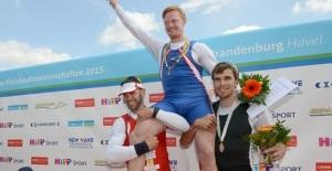 Il podio del singolo maschile (foto FISA)