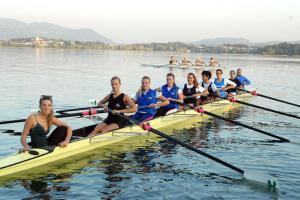 Lago di Pusiano squadra di Canottaggio femminile