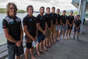 Il giovane otto della Nuova Zelanda. Uno storico bronzo nell'otto.
