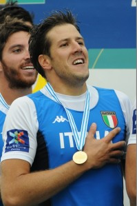 Matteo Castaldo, nel giorno della vittoria del Mondiale in 4 senza