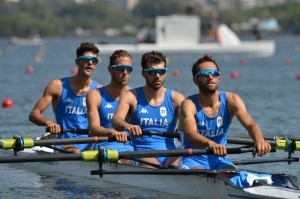 Il 4 senza PL dell'Italia a Rio de Janeiro