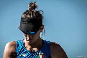 La concentrazione di Federica Cesarini, nella foto di Matteo Oppo