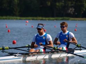 Il doppio leggero maschile dell'Italia oggi vincitore con miglior tempo