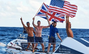 BRITS AND AMERICANS JOIN FORCES TO BREAK RECORDS IN THE TALISKER WHISKY ATLANTIC CHALLENGE L-R JASON CALDWELL, ALEX SIMPSON, MATT BROWN AND ANGUS COLLINS CREDIT BEN DUFFY